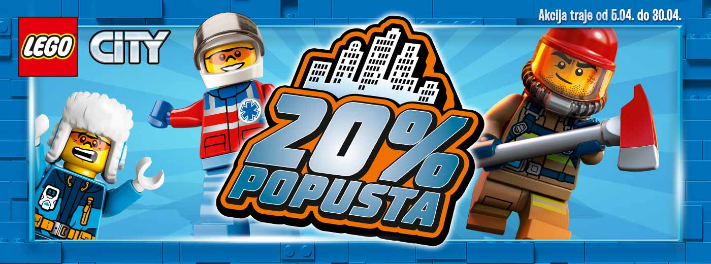 LEGO City akcija april -20%