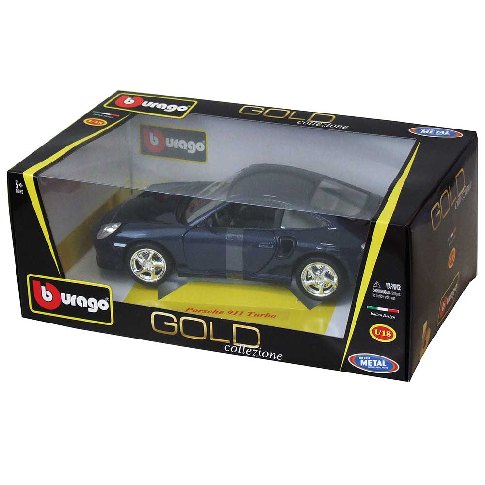 GOLD 1:18 PORSE 911 TURBO