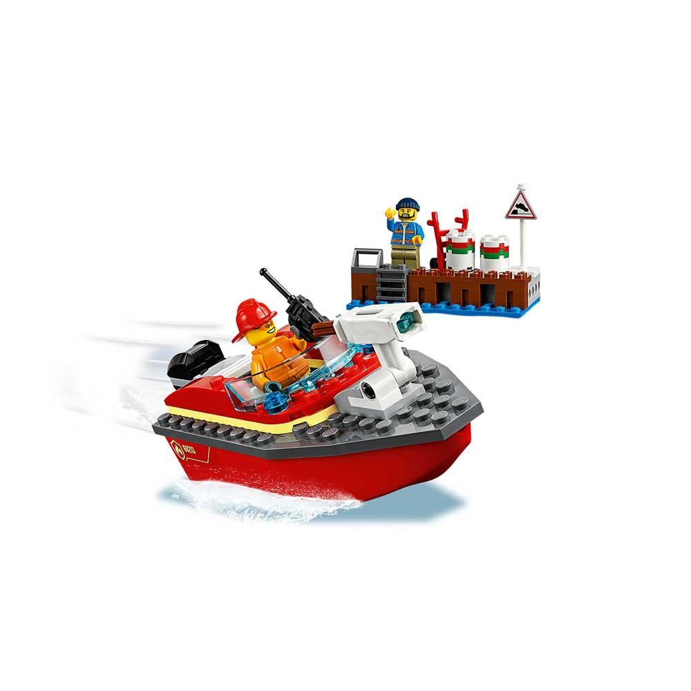 LEGO CITY DOCK SIDE FIRE