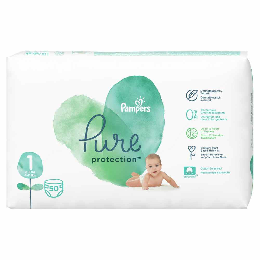 PAMPERS PURE VP 1 NEW BORN (50)