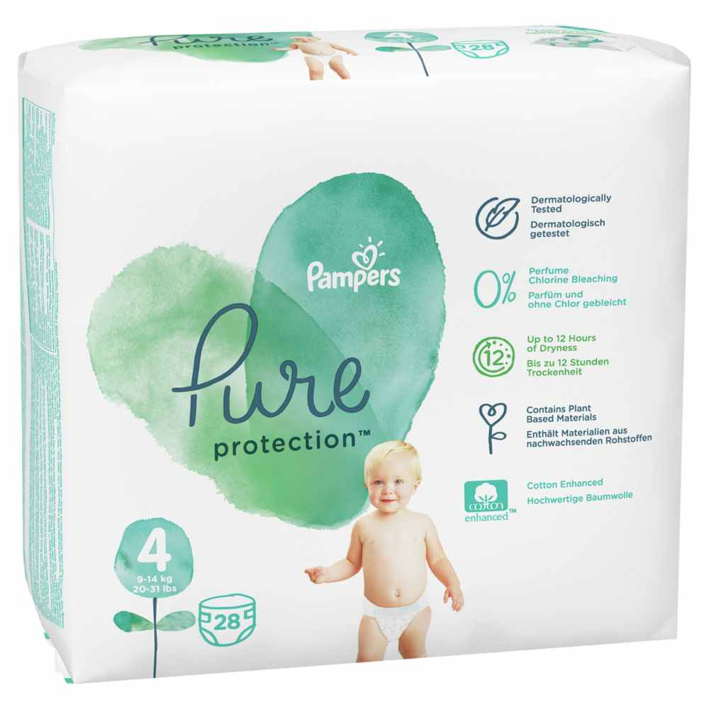 PAMPERS PURE VP 4 MAXI (28)