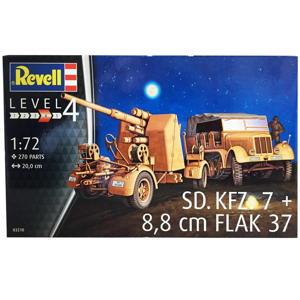 REVEL MAKETA  SD.KFZ.7 + 8,8 CM FLAK 37