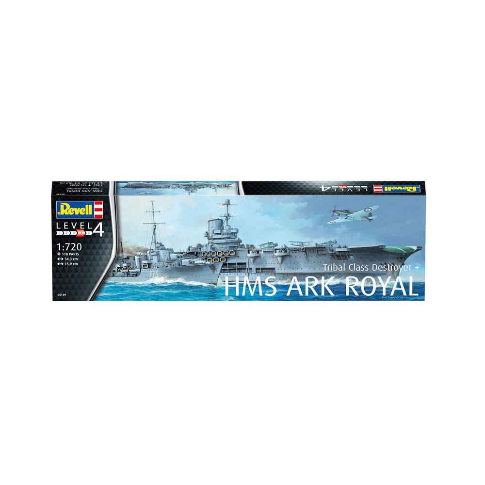REVELL MAKETA HMS ARK ROYAL & TRIBAL CLASS DES