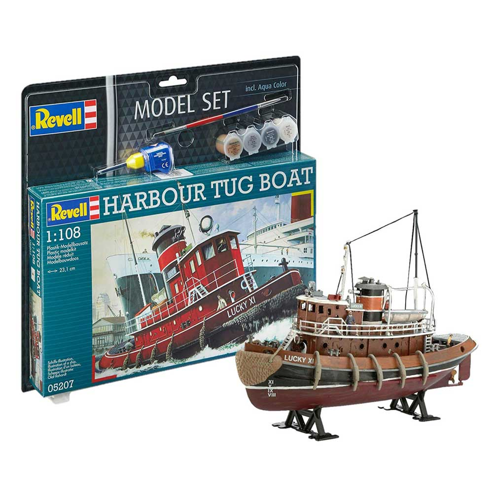 REVELL MAKETA MODEL SET HARBOUR TUG BOAT
