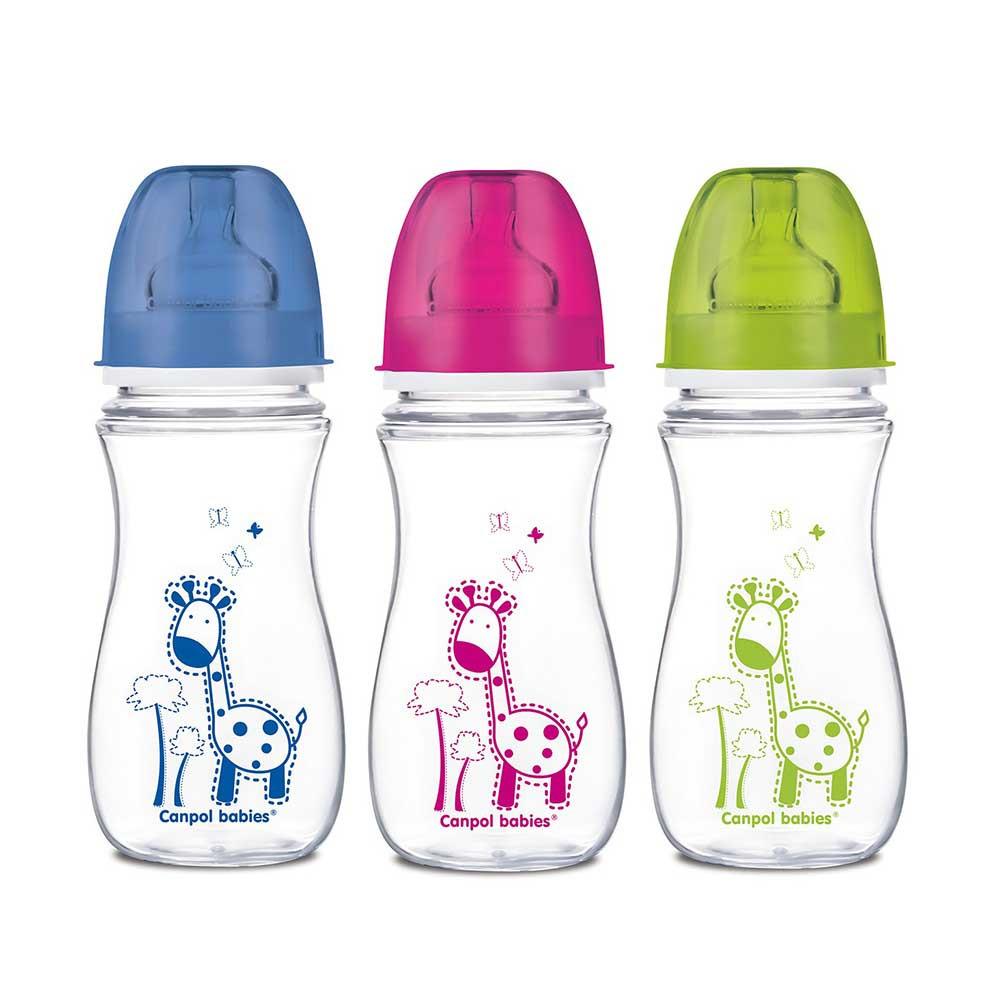 CANPOL BABY FLASICA SIROKI VRAT ANTIKOLIK 35/204 EASY START - COLORFUL ANIMALS 3