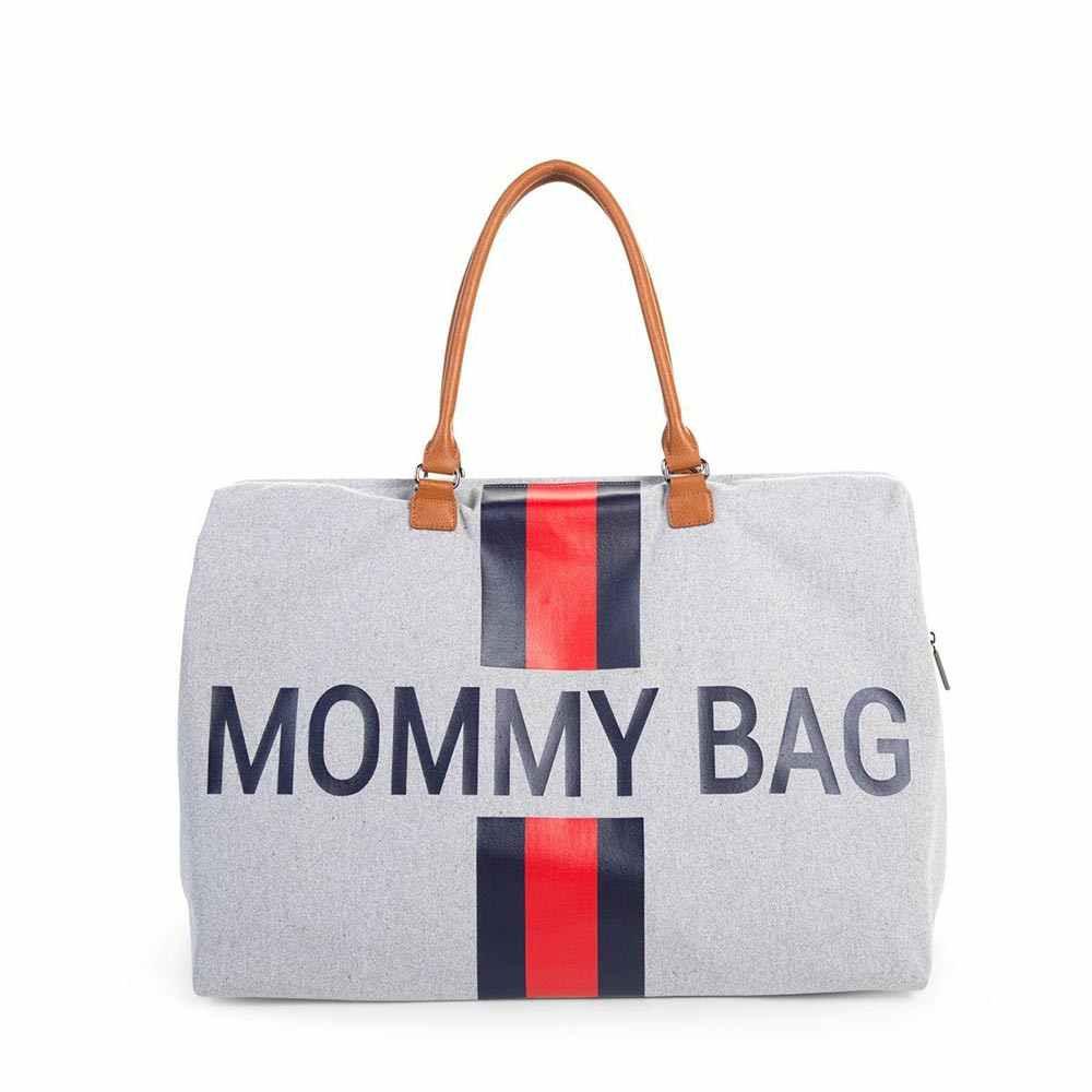 CHILDHOME MOMMY BAG BIG, RUCNA TORBA, SIVA SA PRUGAMA