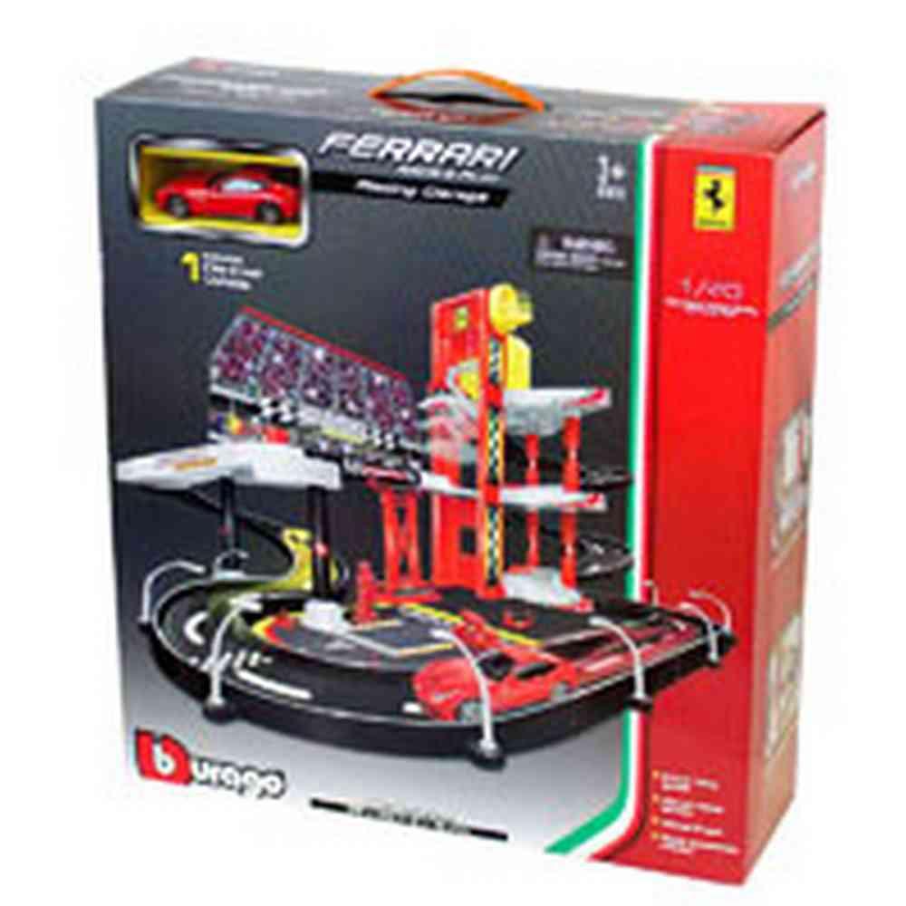 BURAGO FERRARI 1:43 R&P RACING GARAGE, INCL. 1 CAR