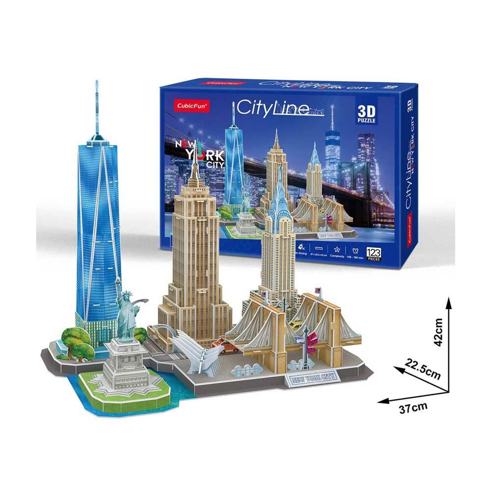 CUBICFUN PUZZLE CITY LINE NEW YORK CITY