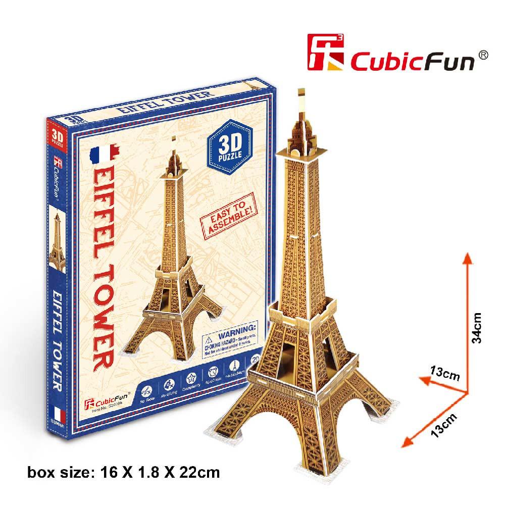 CUBICFUN PUZZLE EIFFEL TOWER S3006h