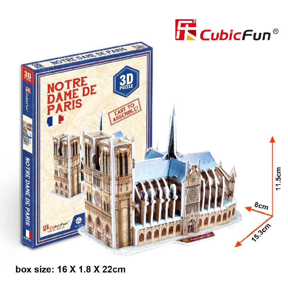 CUBICFUN PUZZLE NOTRE DAME DE PARIS S30
