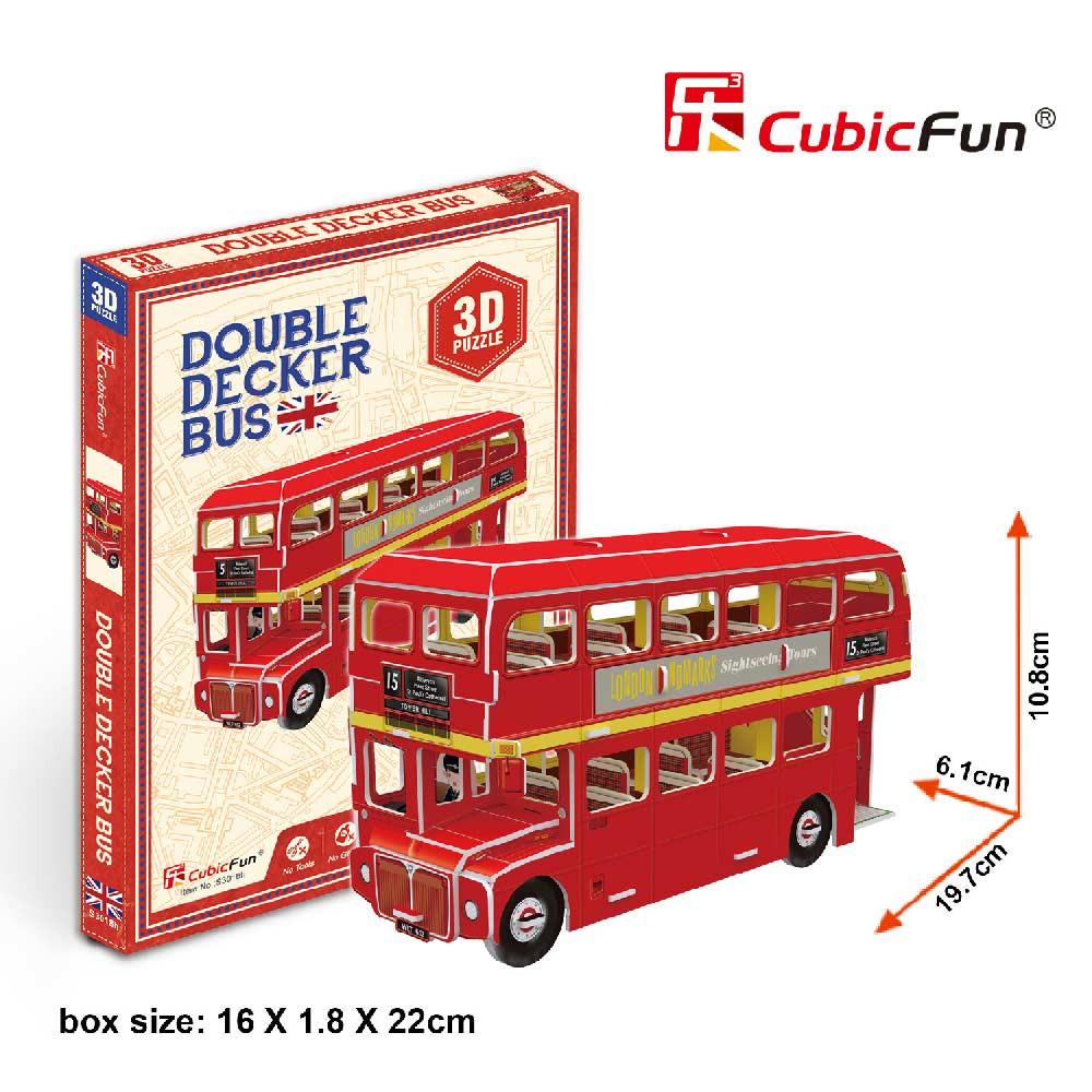 CUBICFUN PUZZLE DOUBLE DECKER BUS S3018