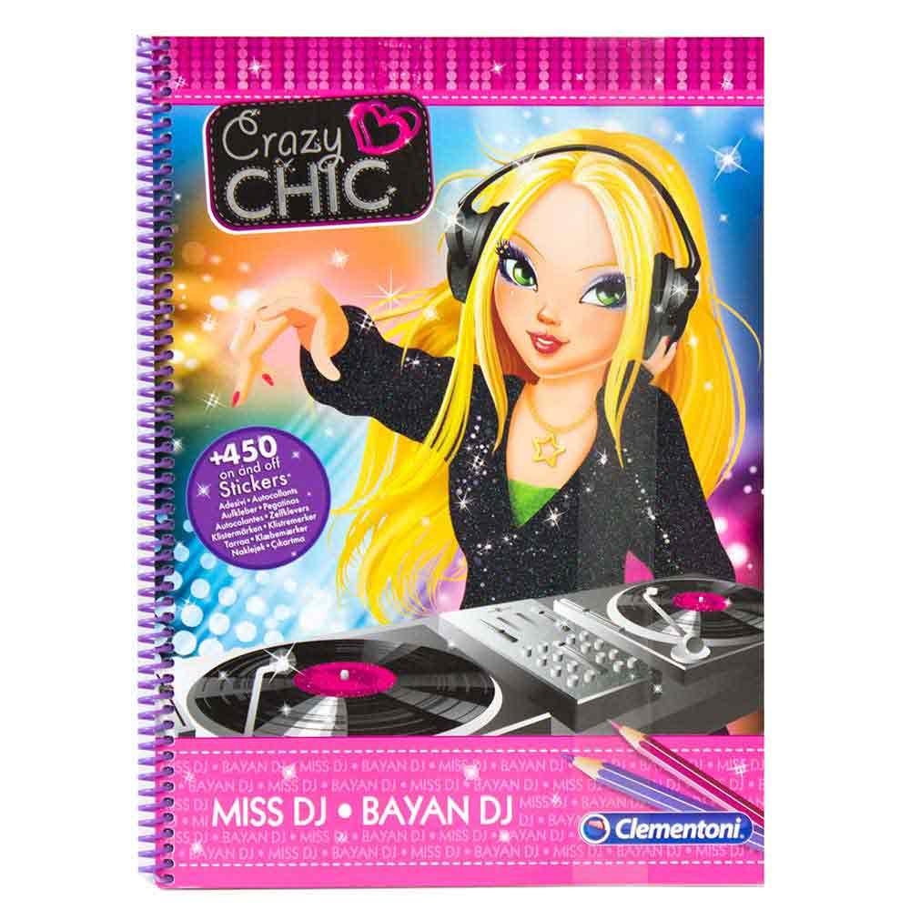 CRAZY CHIC KREATIVNI BLOK MISS DJ