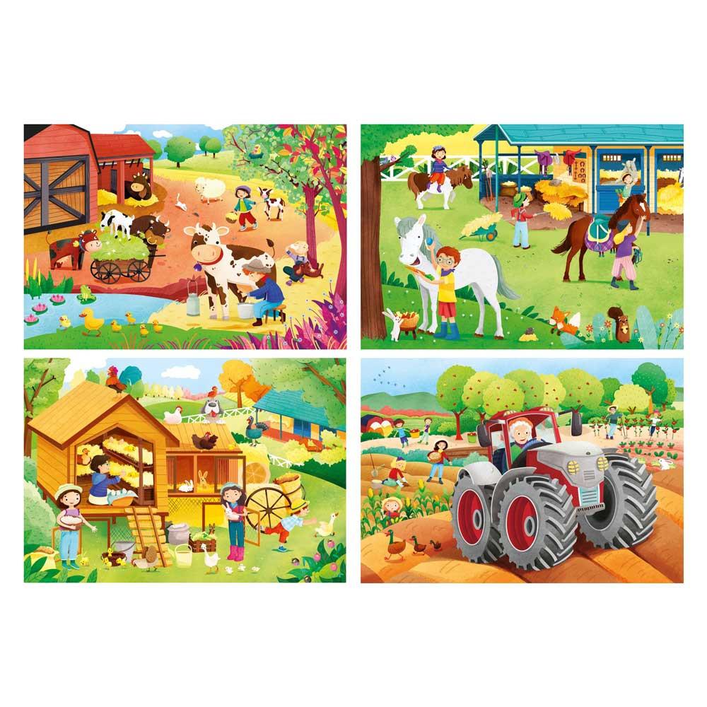 CLEMENTONI PUZZLE 15 FRAME THE FARM