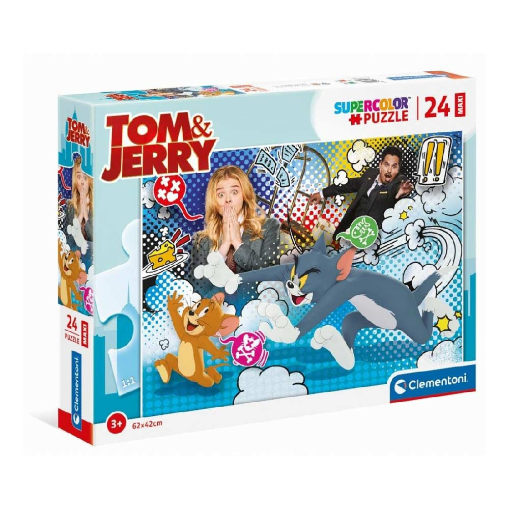 CLEMENTONI PUZZLE 24 MAXI TOM AND JERRY