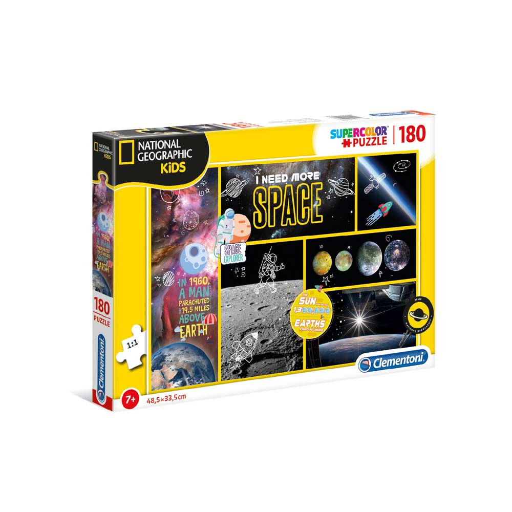 CLEMENTONI PUZZLE 180 NAT GEO KIDS - SPACE