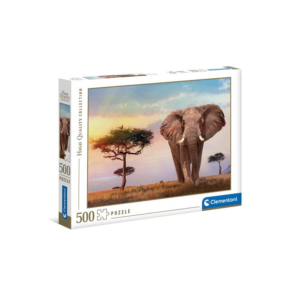 CLEMENTONI PUZZLE 500 HQC AFRICAN SUNSET