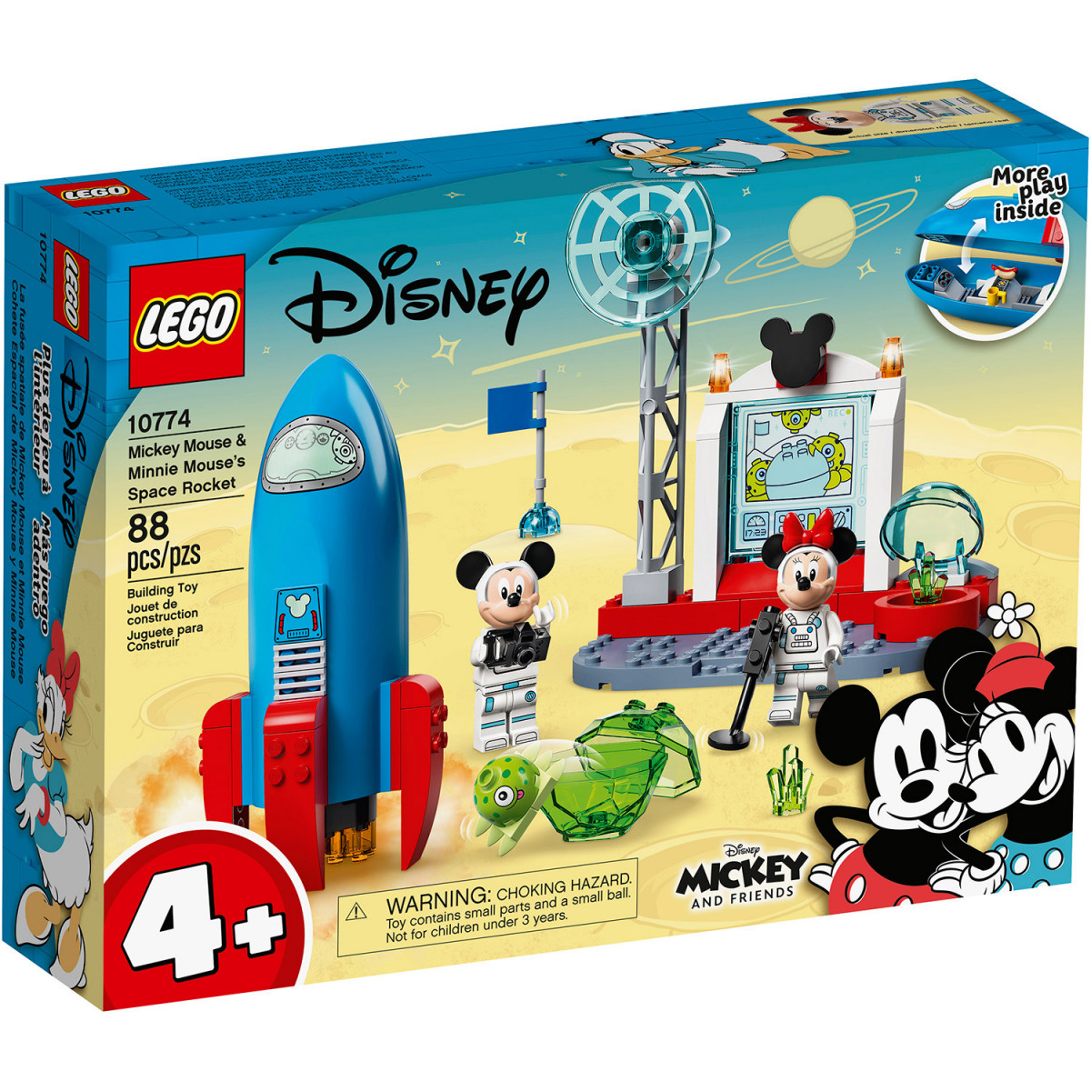 LEGO 4+ MICKEY MOUSE & MINNIE MOUSE'S SPACE ROCKET