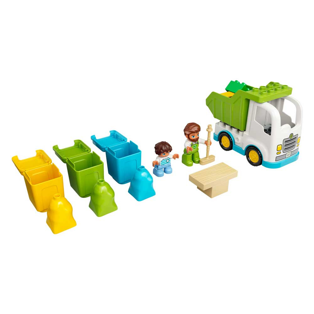 LEGO DUPLO TOWN GARBAGE TRUCK AND RECYCLING