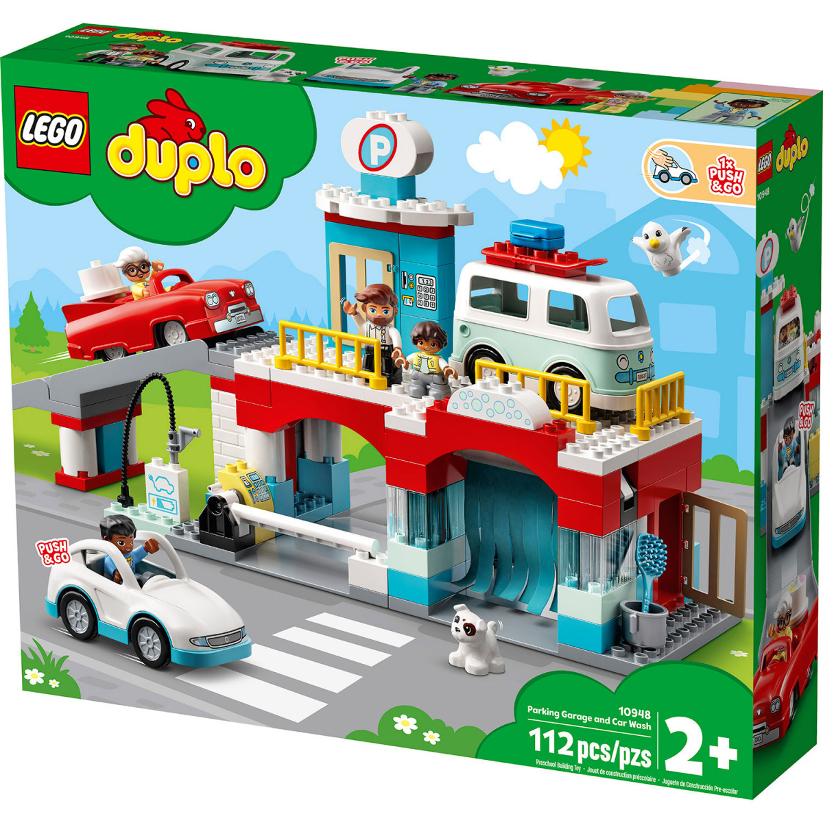LEGO DUPLO TOWN PARKING GARAGE AND CAR WASH