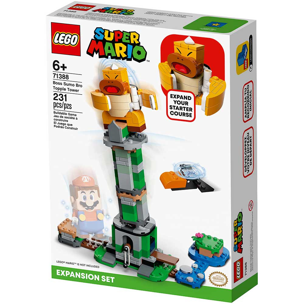 LEGO SUPER MARIO BOSS SUMO BRO TOPPLE TOWER EXPANSION SET