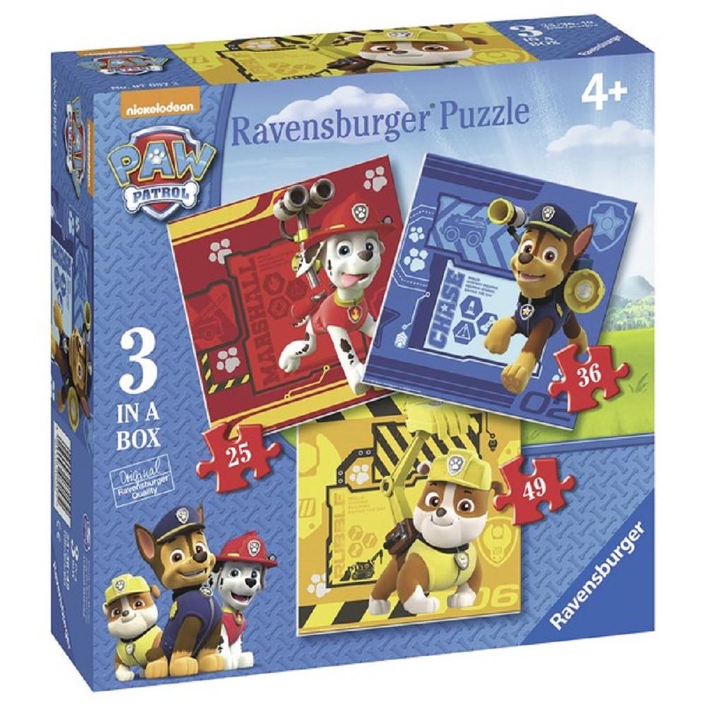 RAVENSBURGER PUZZLE PAW PATROL 3 U 1