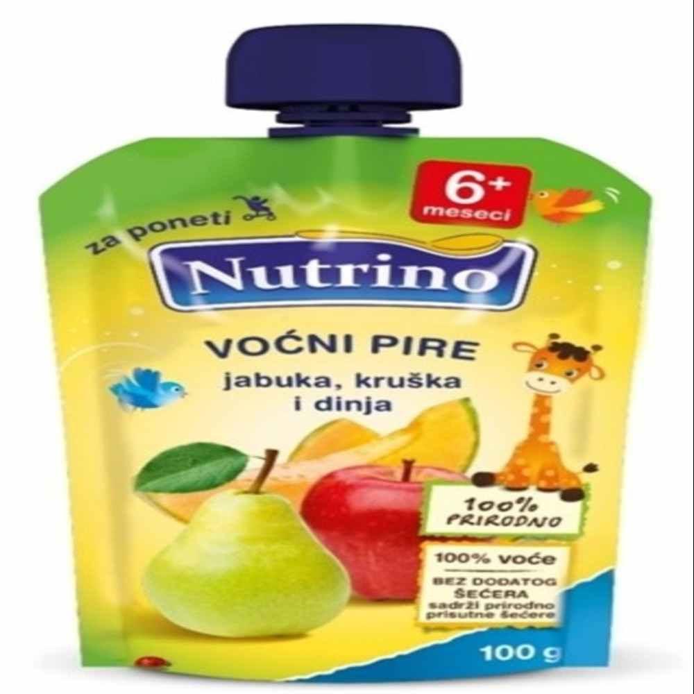 NUTRINO - PIRE OD VOCA-JABUKA,KRUSKA I DINJA 100G