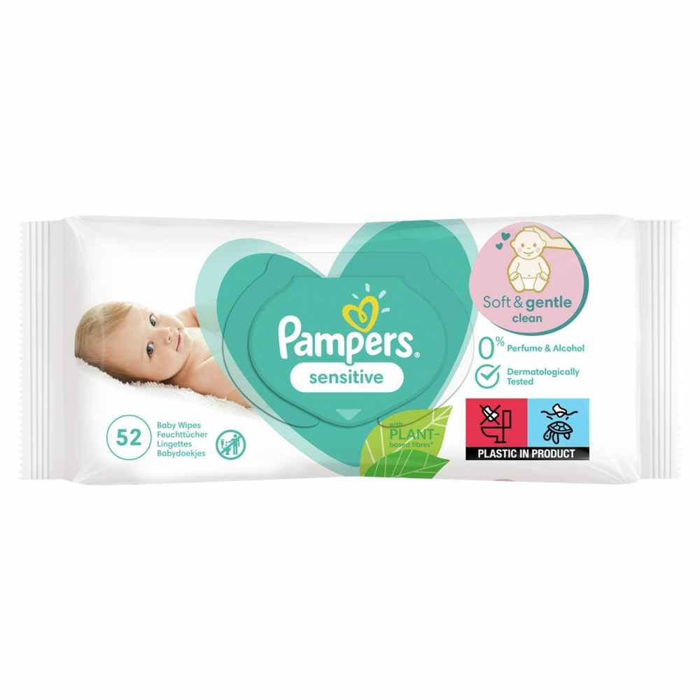 PAMPERS WIPES 52 SENSITIVE