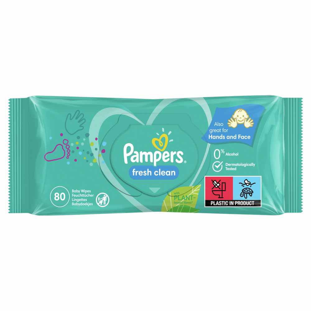 PAMPERS WIPES 80 BABY FRESH
