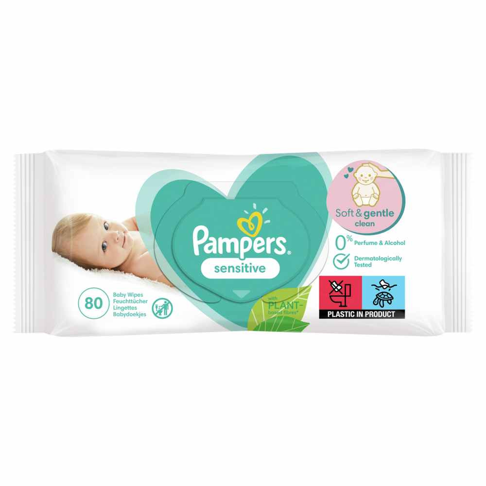 PAMPERS WIPES 80 SENSITIVE