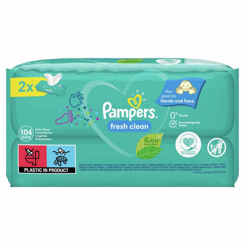 PAMPERS WIPES BABY FRESH DUO 2 X 52 PCS