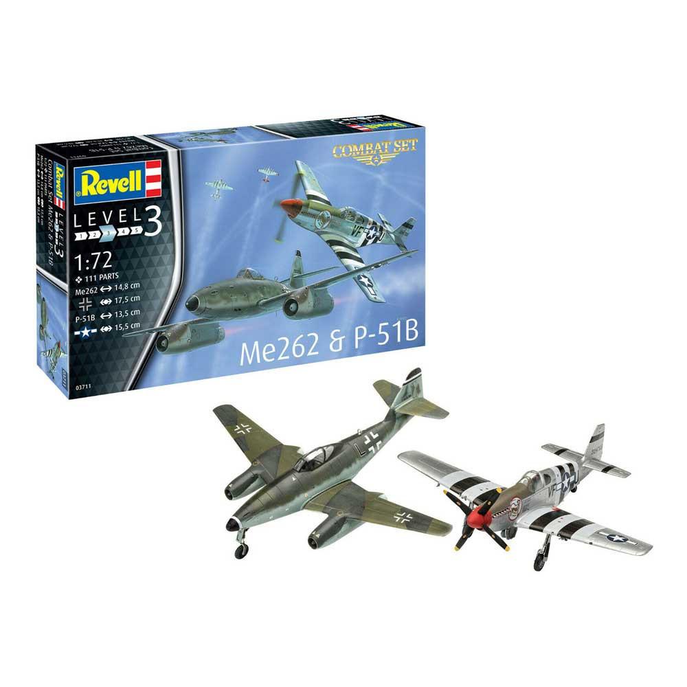 REVEL MAKETA MODEL SET COMBAT SET ME262   P-51B MUSTANG