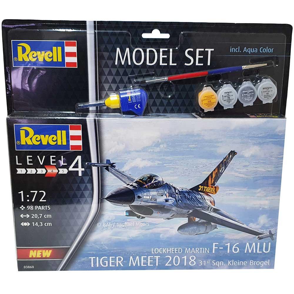REVEL MAKETA MODEL SET F-16 MLU 31 SQN. KLEINE BROGEL