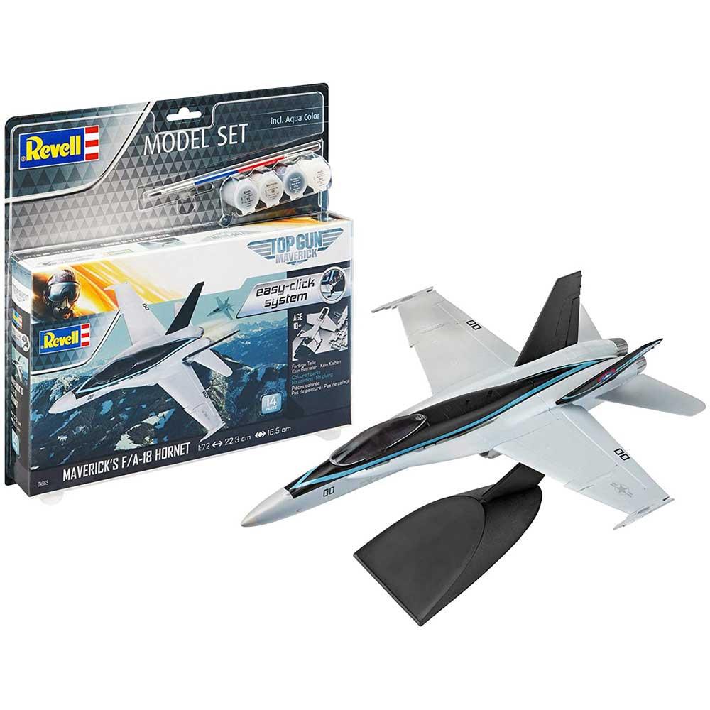 REVELL MAKETA MODEL SET F/A-18 HORNET  TOP GUN