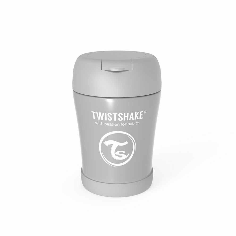 TWISTSHAKE TERMOS-POSUDA ZA HRANU 350ML PASTEL GREY