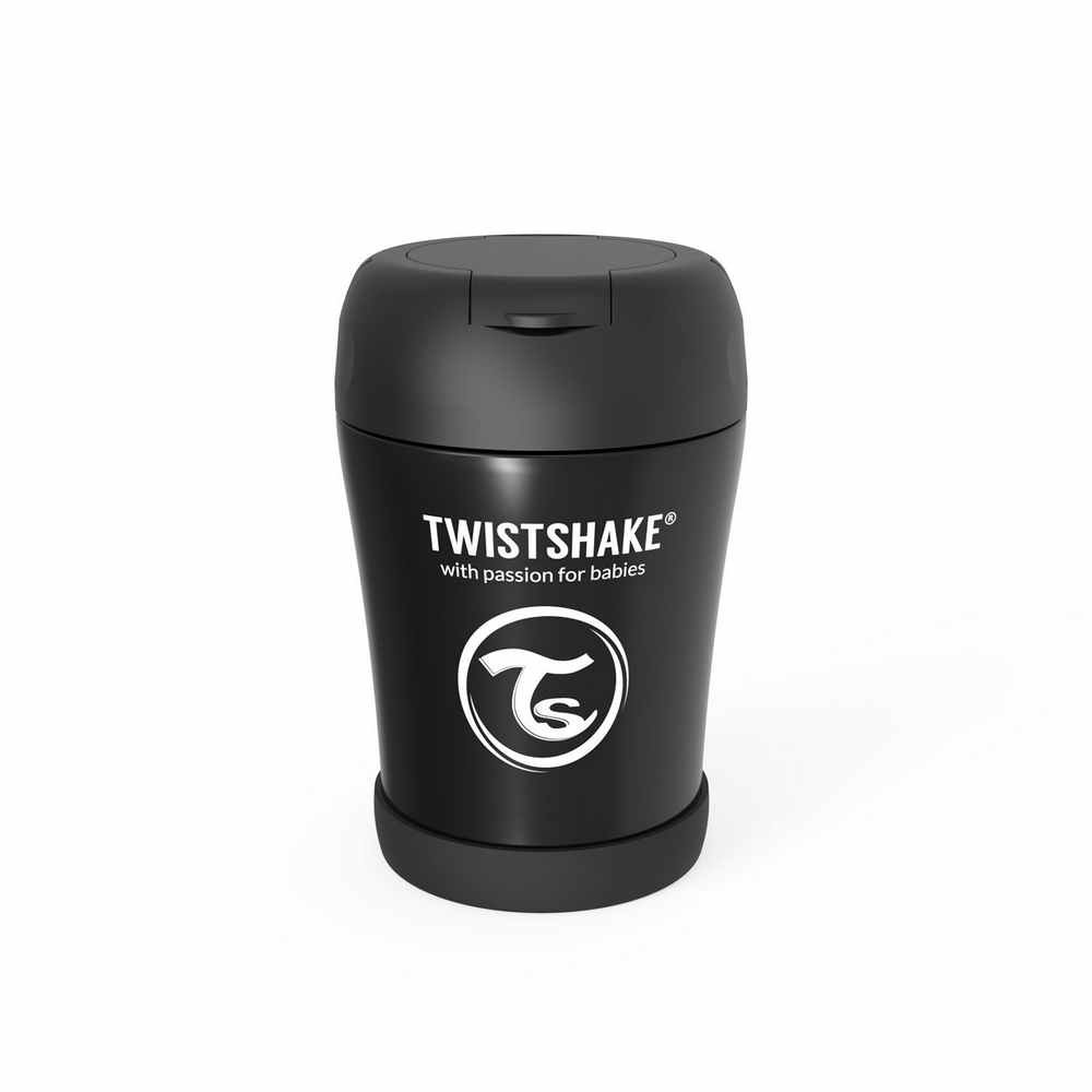 TWISTSHAKE TERMOS-POSUDA ZA HRANU 350ML BLACK