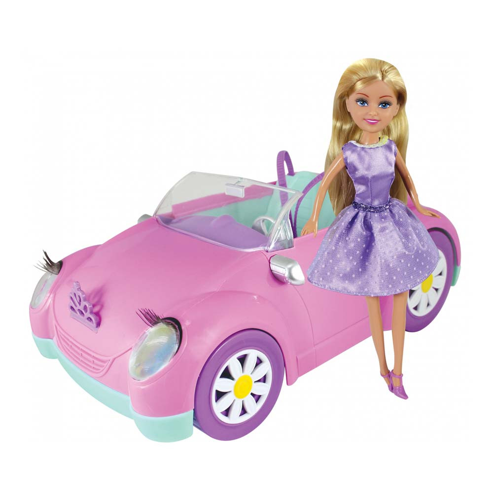 SPARKLE GIRLZ PINK AUTOMOBIL I LUTKA SET