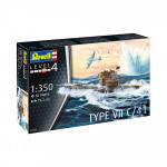 REVELL MAKETA GERMAN SUBMARINE TYPE VII C/41