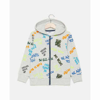 BLUKIDS DUKSERICA FULL ZIP WITH HOOD LT GREY MEL 5