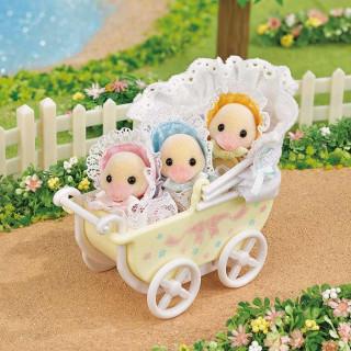 SYLVANIAN DARLING DUCKLINGS BABY CARRIAGE