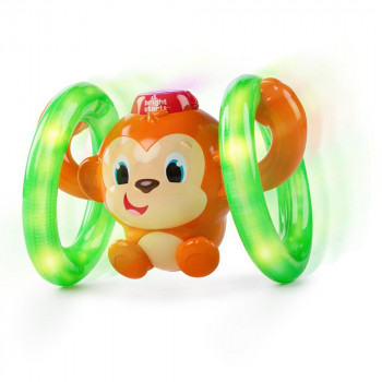 BRIGHT STARTS   IGRACKA BS LIGHTS, LIGHTS BABY ROLL & GLOW MONKEY 52181