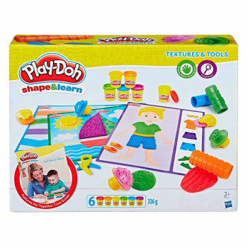 PLAY-DOH PLASTELIN SET TEXTURES AND TOOLS