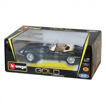1:18 GOLD JAGUAR E CABRIO