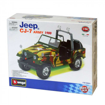 BURAGO 1:24 CB KIT JEEP CJ-7 ARMY