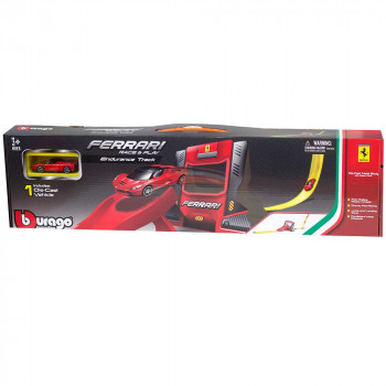 BURAGO FERRARI R&P SINGLE LOOP STUNT SET 1:64