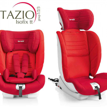 BREVI AUTOSEDISTE TAZIO ISOFIX TT  1/2/3  9-36KG  RED