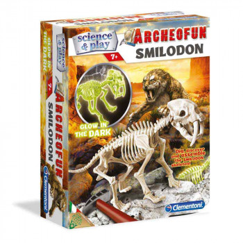 CLEMENTONI SCIENCE SMILODON SKELET SVETLECI