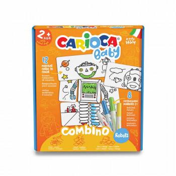 CARIOCA FLOMASTER SET COMBINO ROBOTS BABY