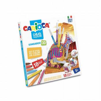 CARIOCA FLOMASTER SET CREATE&COLOR 3D KANGARO