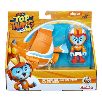 PLAYSKOOL TOP WING FIGURA I VOZILO