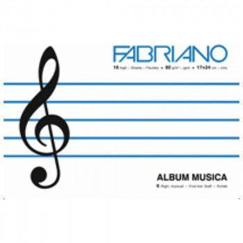 FABRIANO BLOK MUSICA (NOTNA SVESKA) 17X24CM 16L 80G 19100379